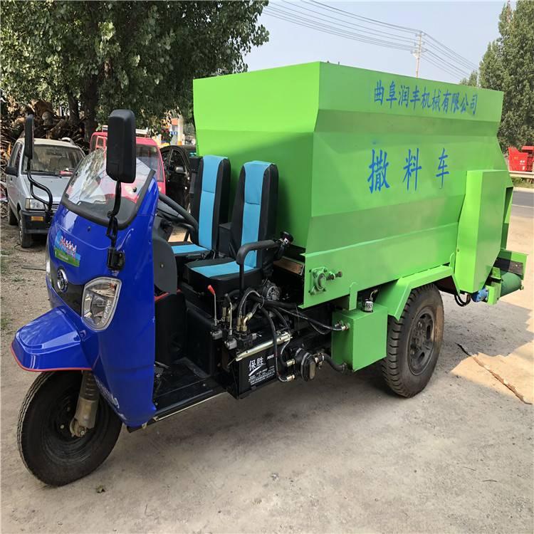 环保型青贮撒料车 大型养牛场用撒料车