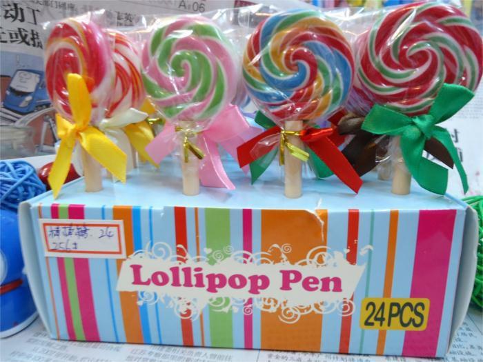 创意仿真韩国创意文具 棒棒糖圆珠笔学生礼品 可爱圆珠笔文具批发图片