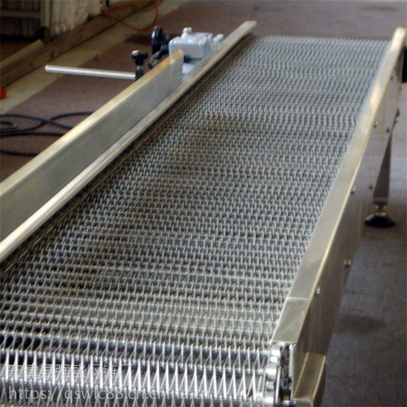 山东强盛机械厂家生产带式输送机 乙型食品网带输送机