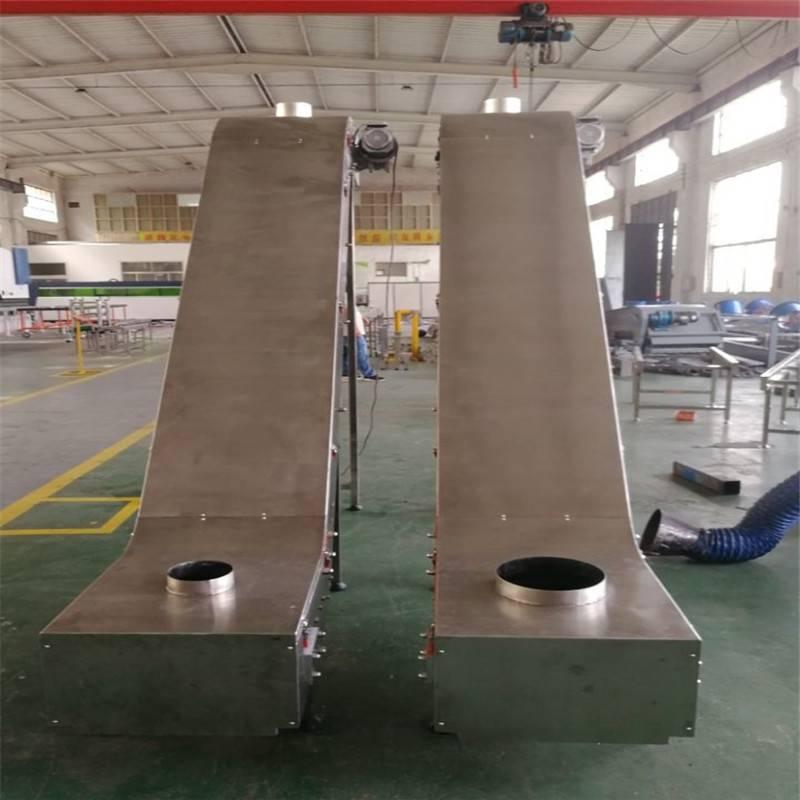 德隆新品直销风机冷却输送线流水线食品皮带输送机耐磨耐高温传送带生产包装线