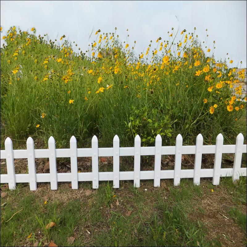 塑钢草坪护栏 白色景观栏杆 小区绿化带加装围栏