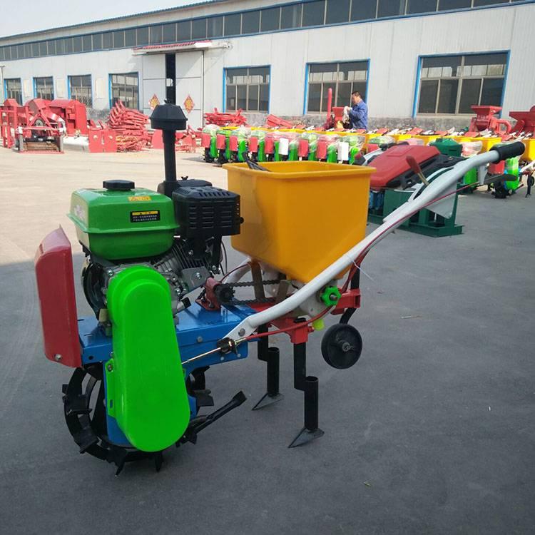 汽油花生大豆播种机 手推式玉米精播机 汽油播种施肥机