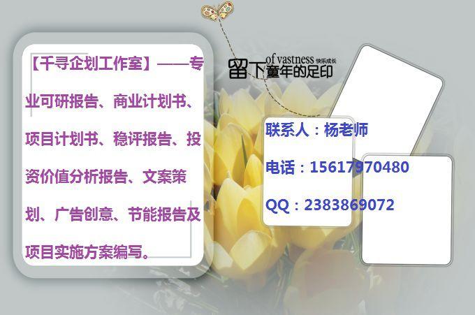 合阳县千寻文案提供合阳县本地项目可研报告