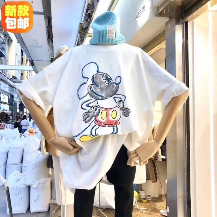 工厂亏本清货夏季T恤女装短袖时尚库存服装夏季短袖清仓2元清货