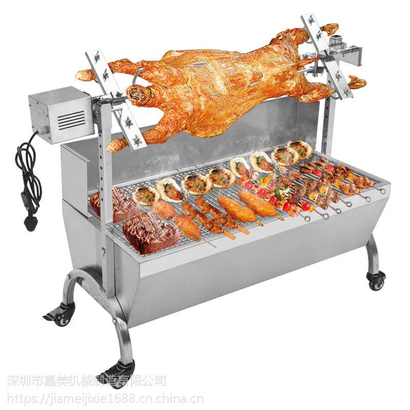 厂家直供嘉美牌SF-169型不锈钢适应五人以上360°电转炭烤炉