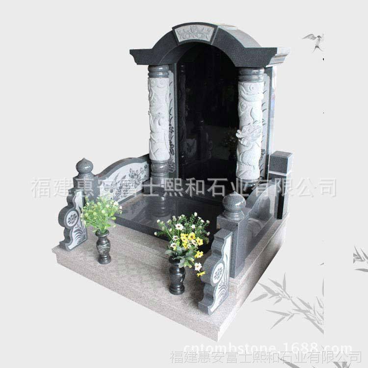 黑龙江七台河墓碑 福建富士熙和品牌厂家直销 惠安手工石雕墓碑