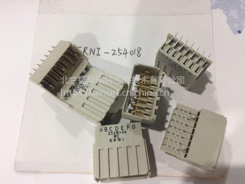 ERNI恩尼公弯1毫米高速PCB连接器284332