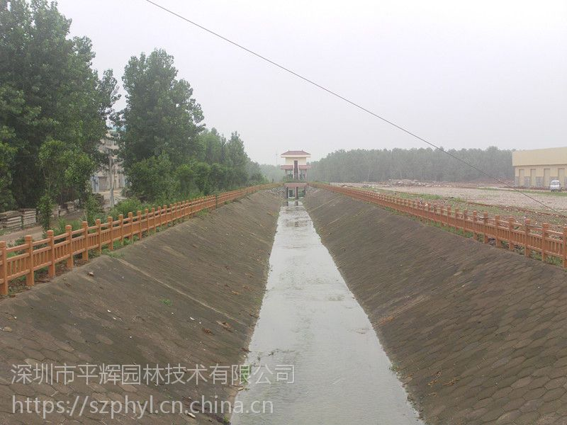 珠海湖边护栏安装|水泥塑木护栏厂家报价