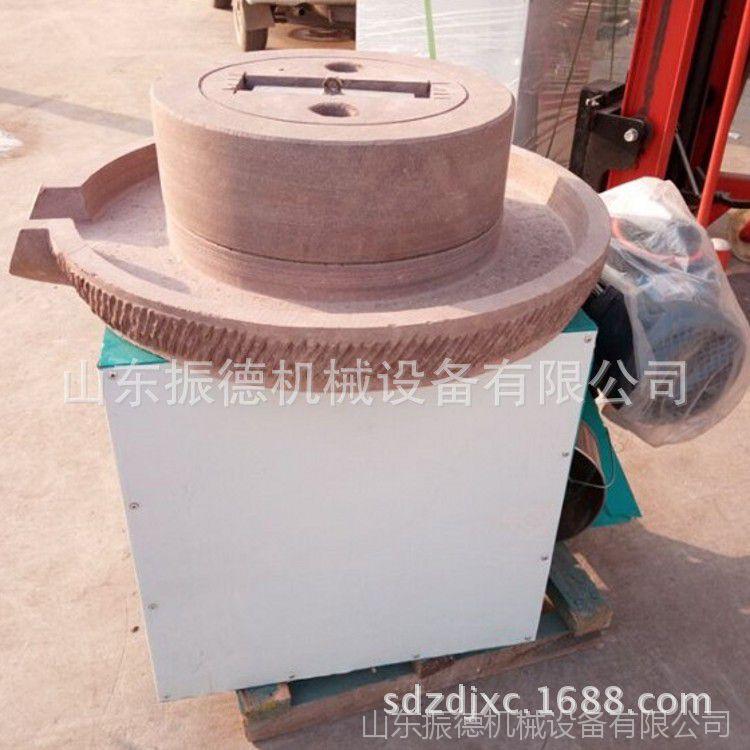 振德供应流动式豆浆石磨机 芝麻酱电动石磨机 小型电动豆腐石磨机