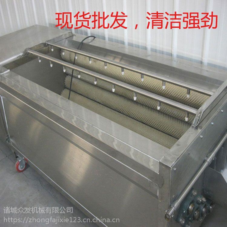 2000根茎类蔬菜毛辊去皮清洗机 萝卜去皮清洗机 榨菜清洗机