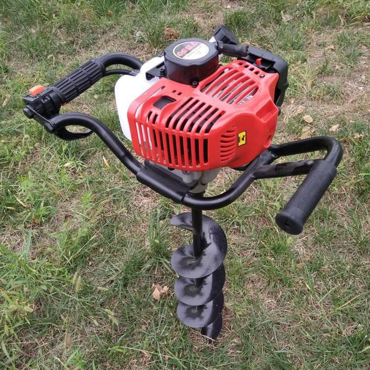 新款直销汽油手提打眼机二冲程挖坑机加长钻头打孔机