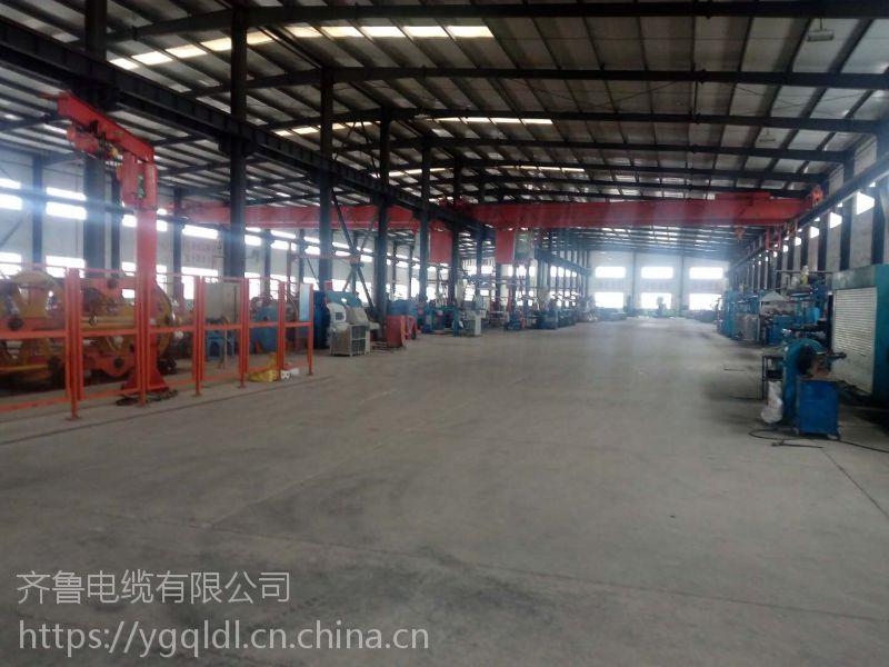 供应齐鲁牌裸铜线多芯交联塑料绝缘聚氯乙炔PVC护套矿用光缆 YJV 2*5.8