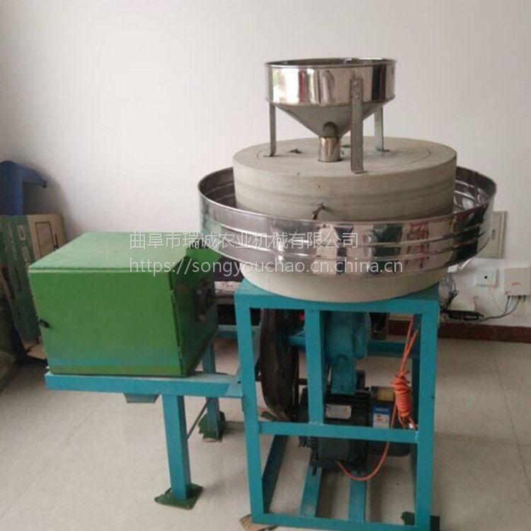 小型家庭作坊杂粮石磨面粉机 瑞诚牌优质石磨面粉机价格