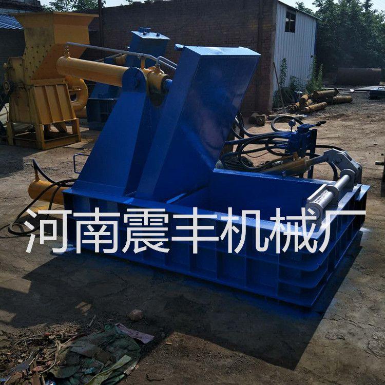 厂家供应二手全自动金属易拉罐压块机 纸箱塑料瓶打包机震丰机械厂推荐