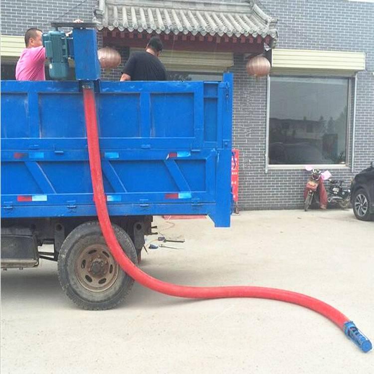 [都用]武安市花生吸粮机 自吸式麦子抽粮机 双驱动12米软管吸粮机