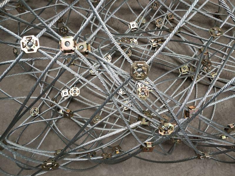 sns边坡柔性防护网制作过程