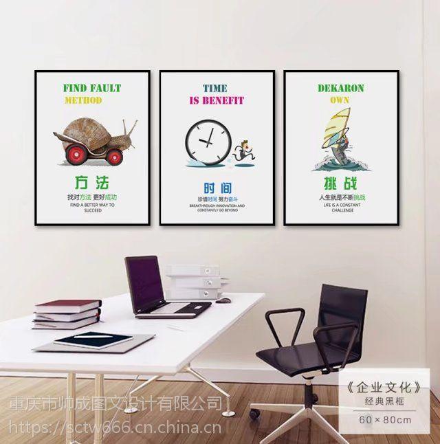 重庆涪陵办公室励志北欧简约装画制作