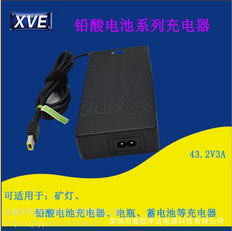 厂商供应43.2V3A蓄电池电瓶车充电器 XVE定制出售电动车充电器