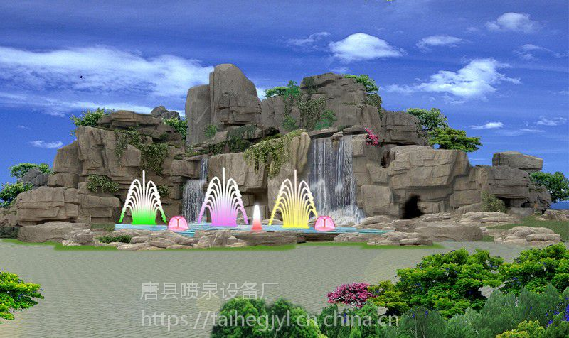 水泥塑山价格|唐县假山工程施工|小区绿化塑山品牌