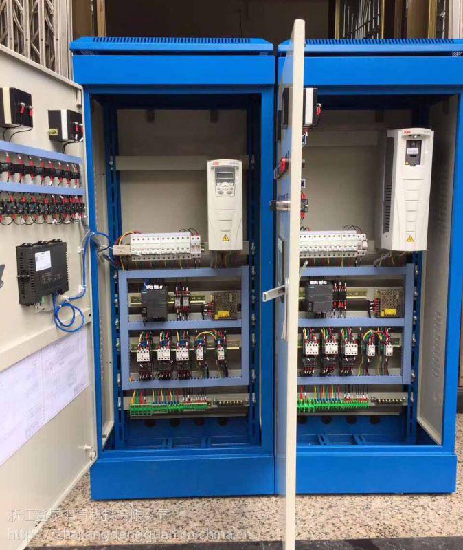 全自动变频给水带触摸屏控制柜ABB变频恒压供水控制柜4KW浙江登泉厂家直销