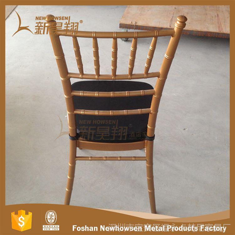 厂家直销铝合金拿破仑竹节椅户外婚礼透明竹节椅外贸原单金属椅子