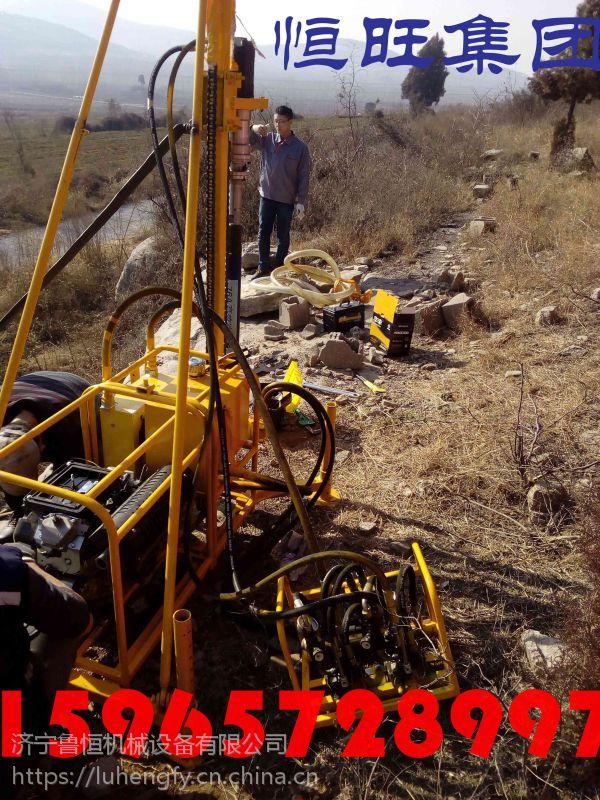 恒旺供应宜宾市 盐津县高效率山地钻机 轻便运输石油钻机 浅孔钻机