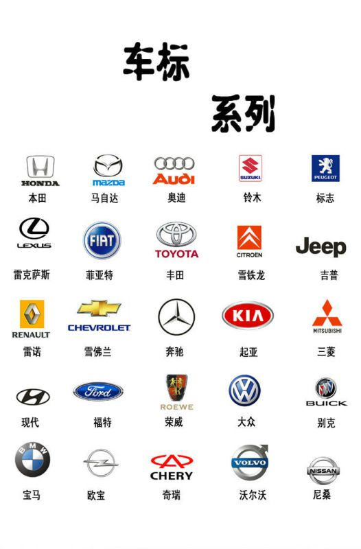金属汽车钥匙扣 创意车标钥匙挂件 奥迪丰田大众宝马奔驰钥匙绳图片