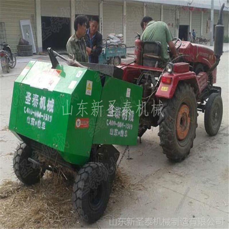 车载玉米秸秆打包机 车带小稻草秆打包机 小型打包机