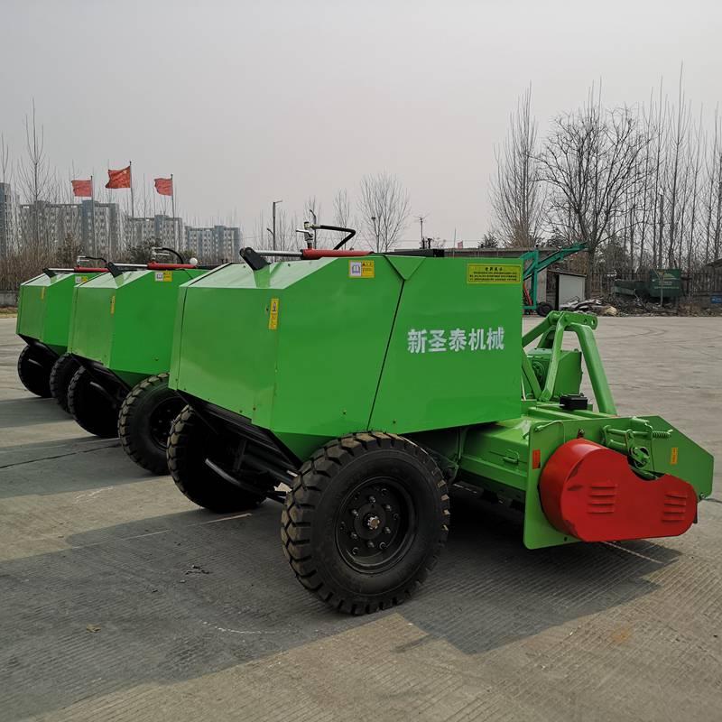 青储玉米收获机原装现货 江苏圣泰粉碎式秸秆打捆机