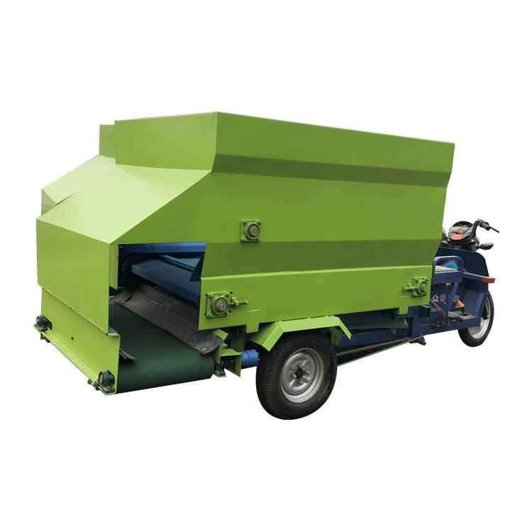 大中型电动撒料车 饲料直接投料的料槽喂料机润丰