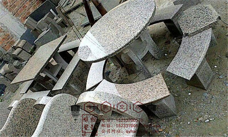 大理石石桌石凳 休闲摆件 凤凰彩玉石石桌石凳 定做石桌石椅石凳