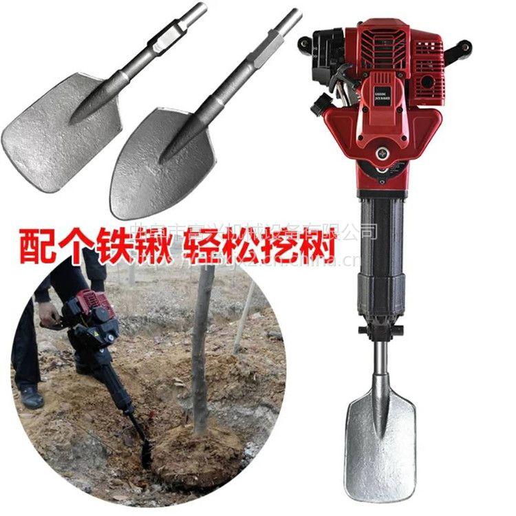 林业树苗移栽机 富兴批发汽油冲击式断根机 链条锯式起苗机视频