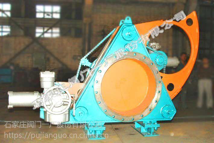 供应石家庄阀门一厂环球牌气动带波纹管盲板阀 (QC643BX-2.5DN500-2000)