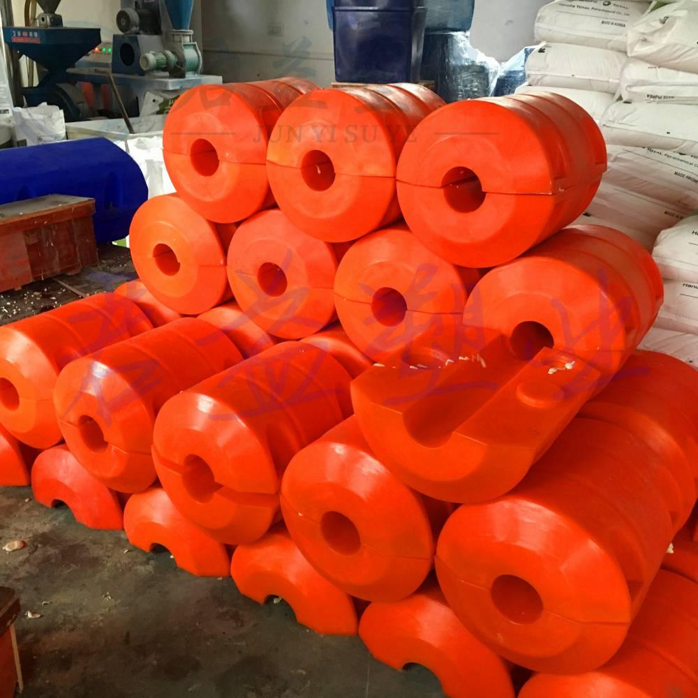 连云港PE浮球 直径400两半体浮球 挡垃圾浮球