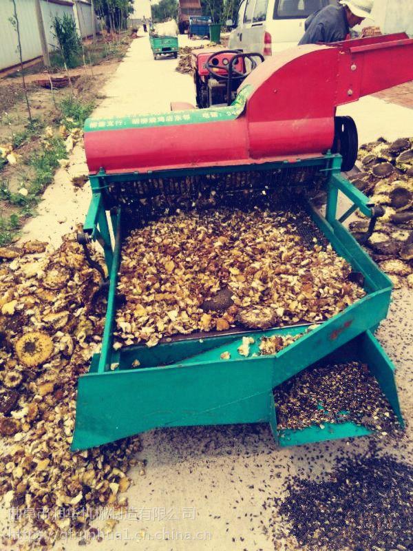 打粒干净的油葵脱粒机 小型葵花脱粒机 多功能打油葵籽机
