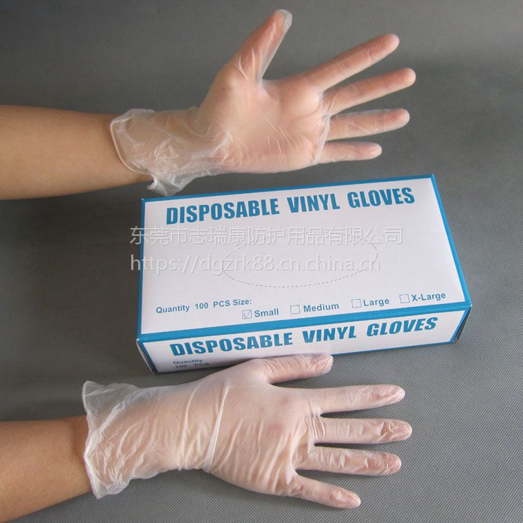 广东一次性手套厂家批发 加厚透明PVC手套