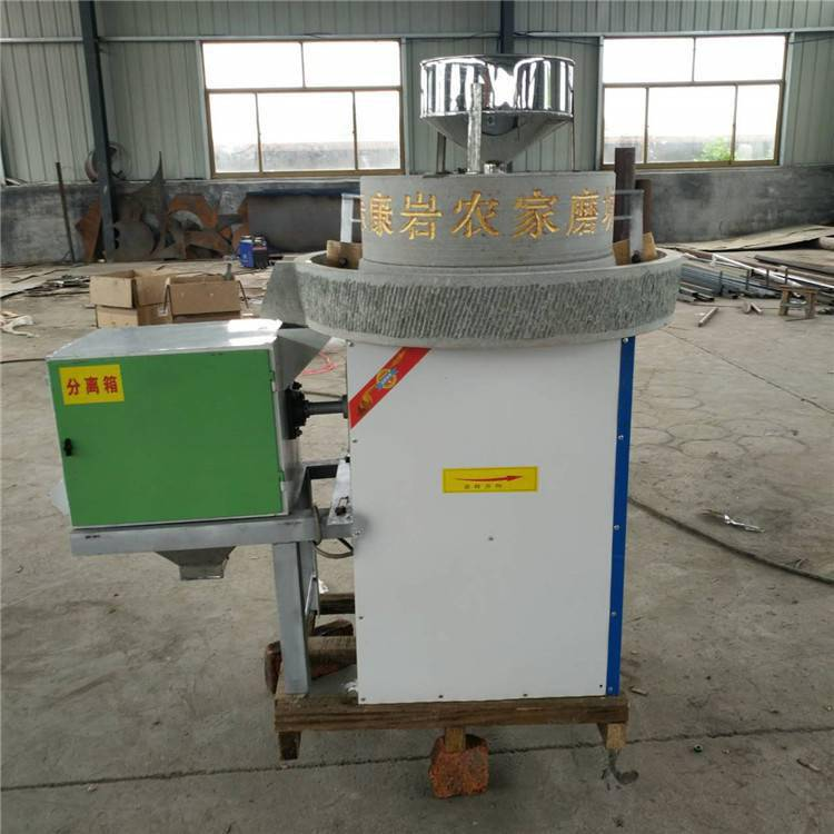 红豆绿豆电动面粉石磨机 信达批发天然黄豆浆石磨机