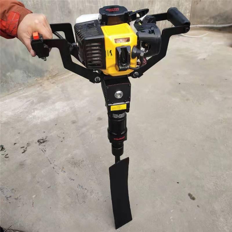 二冲程铲头式挖树机 启航牌大马力铲头式挖树机 苗木移栽移植铲树机