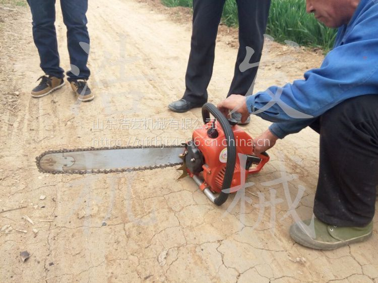 土里有石块可以用的一款浩发挖树机