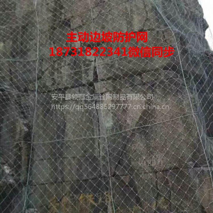 高速路边坡防护网报价&四川阿坝红原县边坡防护网18731822341