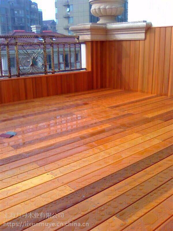 力寻木业加拿大红雪松无节扣板 实木免漆桑拿板 吊顶护墙板
