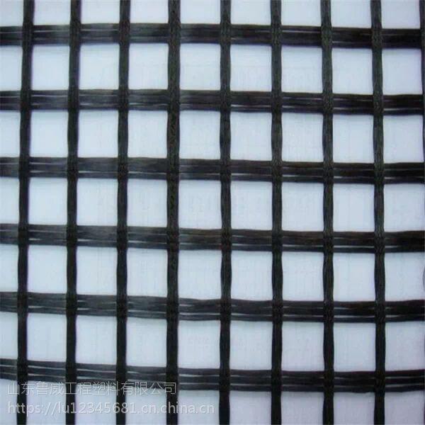 山东鲁威工程钢塑土工格栅GSZ30涤纶土工格栅生产厂家