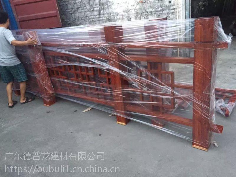 铝型材木纹铝窗花-木纹转印铝合金护栏