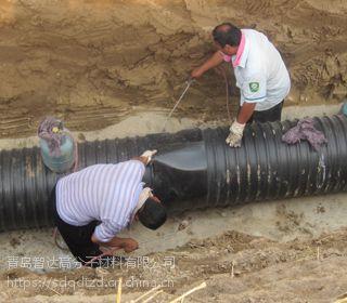 HDPE 钢带增强螺旋波纹管专用热收缩套 管道补口皮子