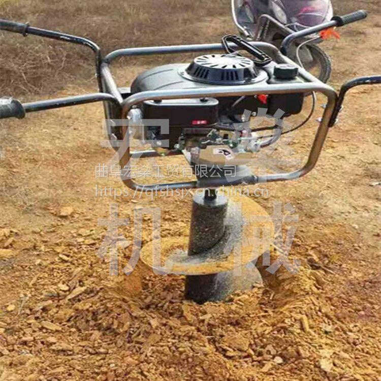 植树打孔机打坑机性能 水泥杆刨坑机线杆钻孔机挖坑机