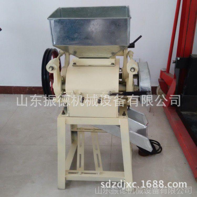 粮食加工机械挤扁机 立式小型多用挤扁机 振德供应 黑豆挤扁机