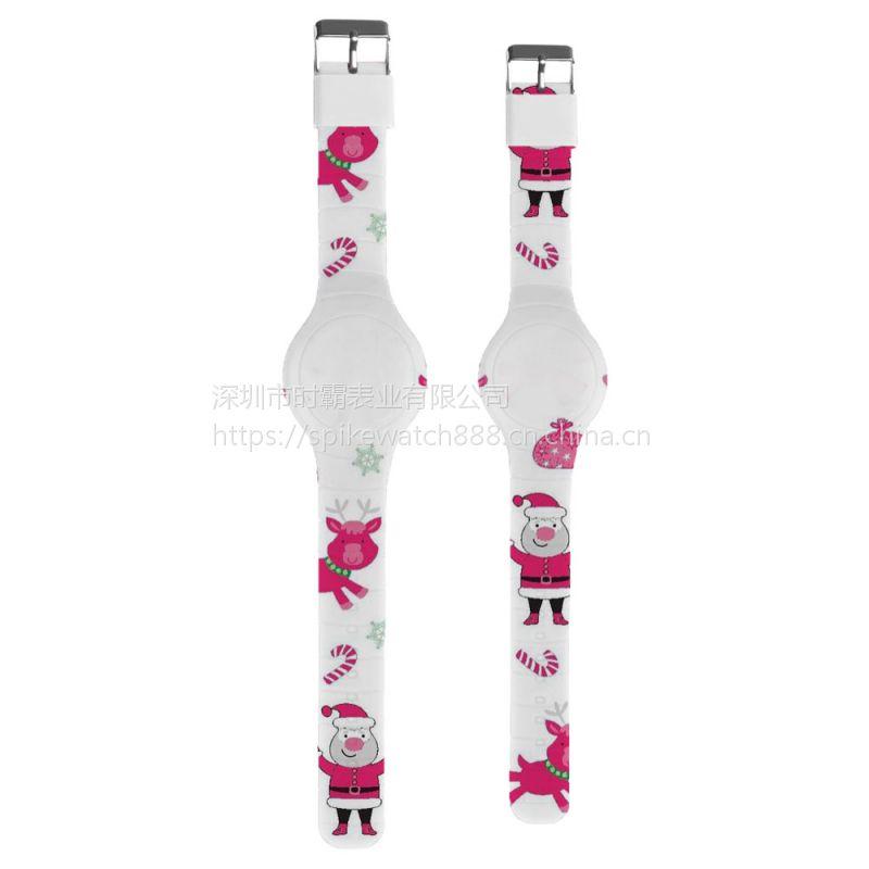 SPIKE优质手表工厂加工定制新款卡通连体硅胶彩印手表