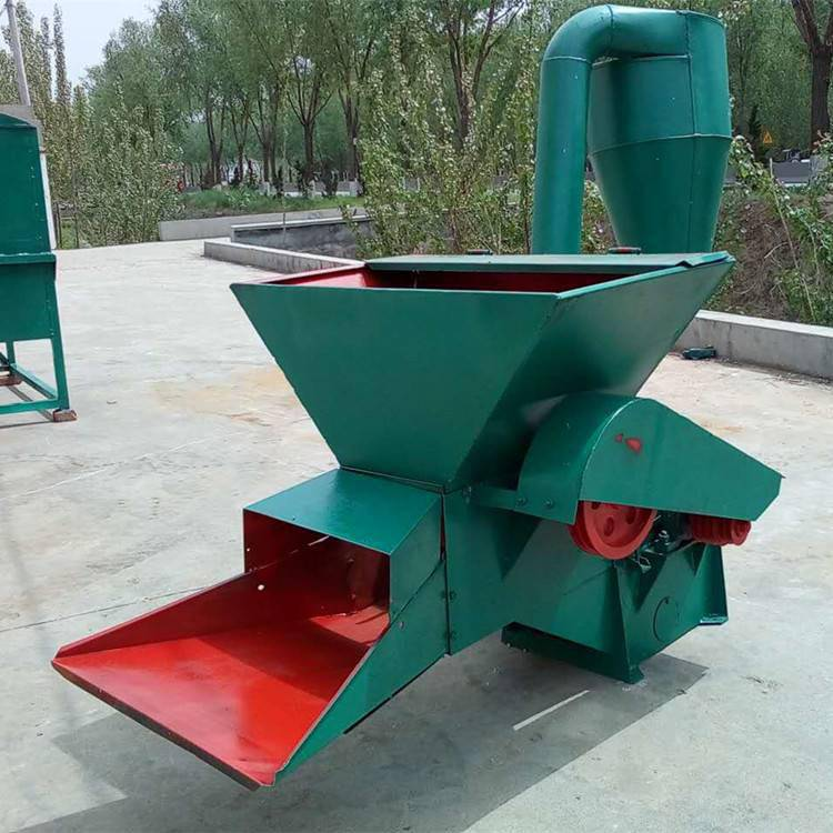 新款牧草秸秆粉碎机自动进料打草机沙克龙草面子机