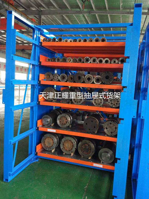 抽屉货架主要存放什么货物 北京企业一般都怎么存放管材 100%抽屉式设计货架