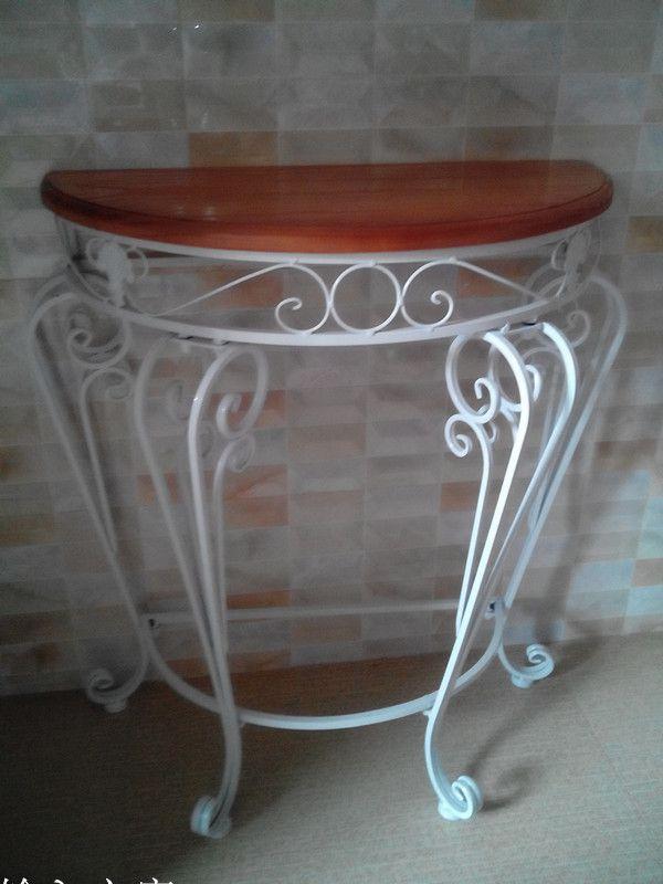 特价欧式圆桌客厅家具玄关半铁艺方位装饰桌墙角五行家具与色彩图片